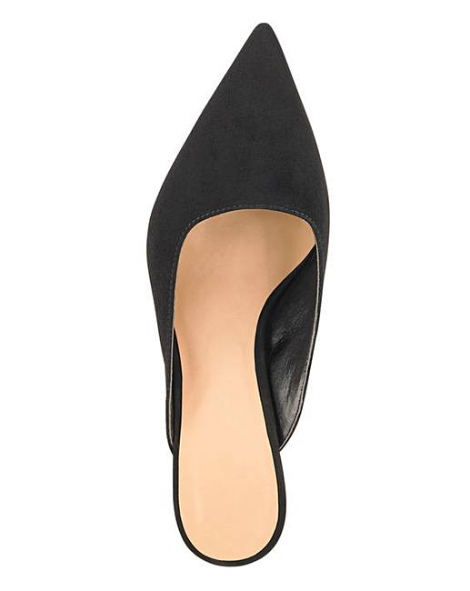 9a347a1aec8 Margo Kitten Heel Mule Extra Wide EEE Fit. Click to view  Simply Be   products. Rollover image to magnify
