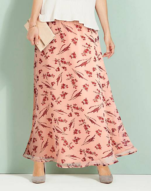 check out big collection run shoes Floaty Printed Maxi Skirt