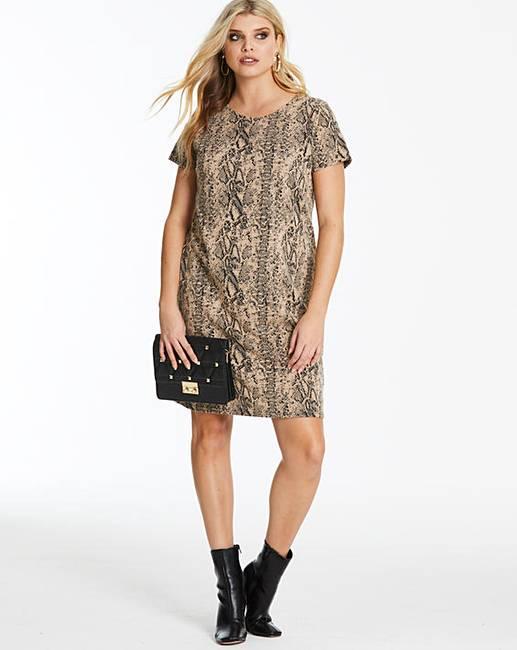 c923eaafce1 Snake Print Shift Dress