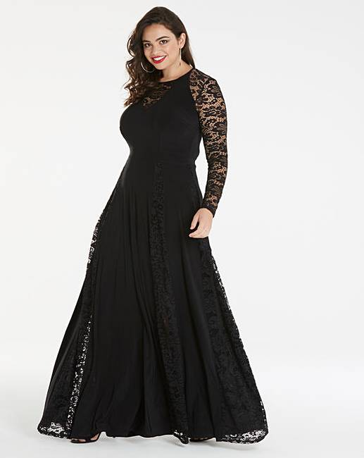 012b6a3b692 Simply Be by Night Lace Insert Maxi