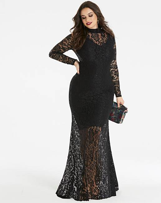 2e4dfd9546d Simply Be by Night High Neck Lace Maxi