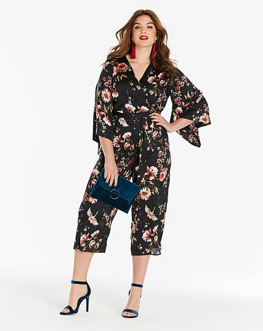 001033cd2dcc0e Simply Be Oriental Print Satin Jumpsuit | Simply Be