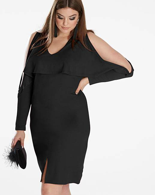 e32d37a2121b Simply Be By Night Plunge Dress | Oxendales