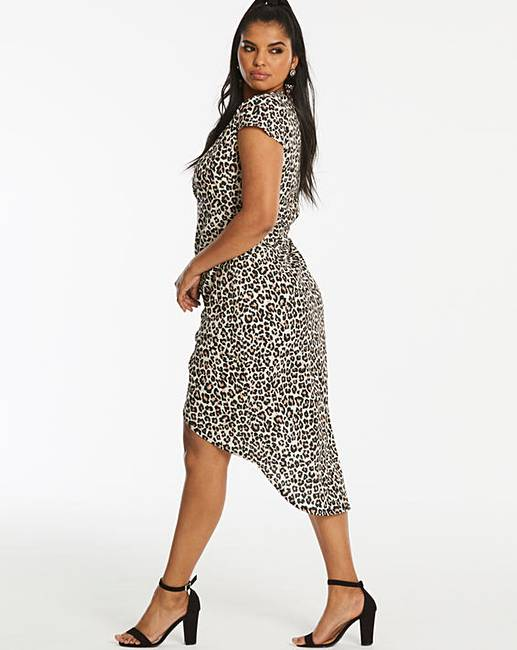 1798195b9016 Simply Be By Night Leopard Print Dip Back Wrap Dress