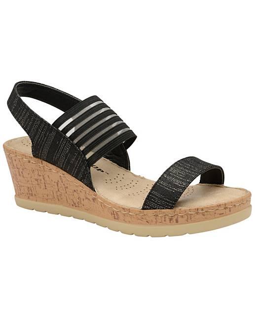 08696de1d1 Dunlop Missy women's wedge sandals | J D Williams