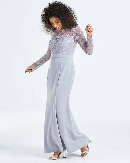 0c08a250257 Simply Be By Night Lace Fishtale Dress