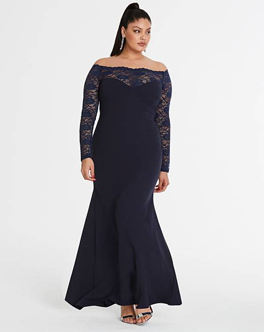 4c842135340f Simply Be By Night Bardot Lace Dress | Marisota
