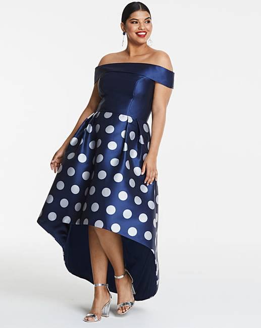 9a9e77412f5 Chi Chi London Bardot Dip Hem Dress
