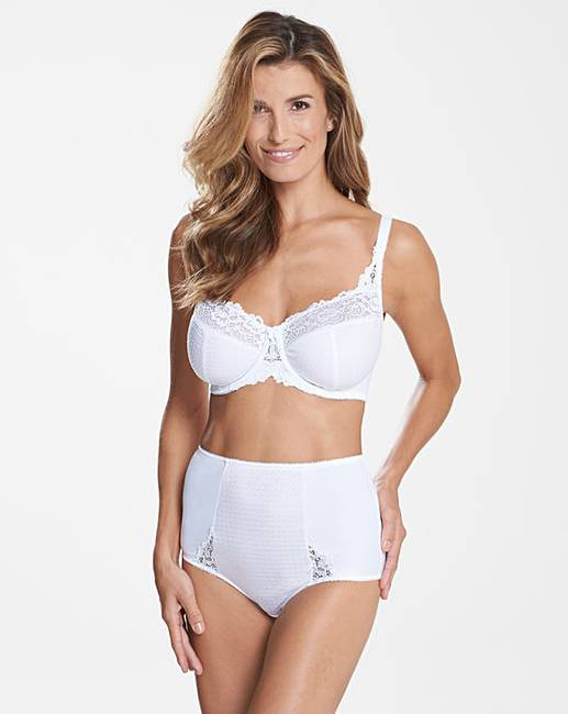 2cacc80c40173 Ruby Minimiser Wired White Bra