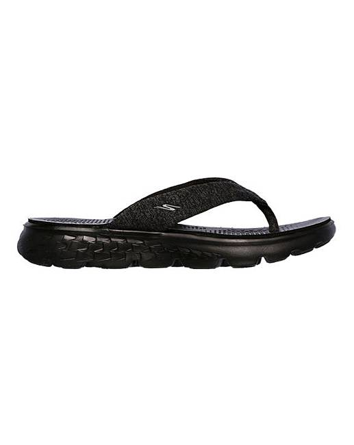 1d357002a74a56 skechers on the go 400 vivacity ladies flip flops black most popular ...