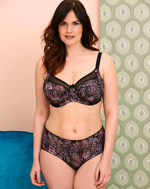 ab87eabe7 Goddess Kayla Full Cup Wired Black Bra