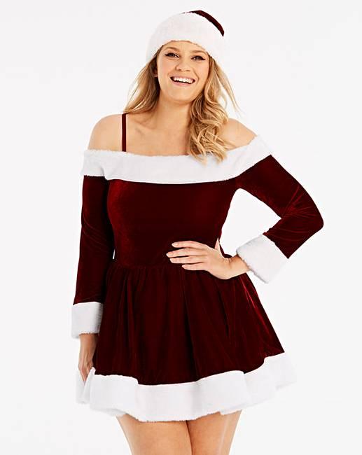 - Ann Summers Sexy Miss Santa Dress Set Simply Be