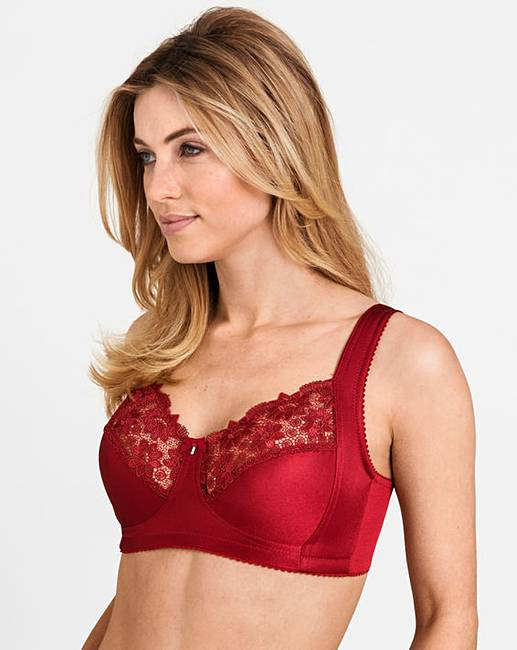 443c02c2761fb Miss Mary Summer Non Wired Red Bra