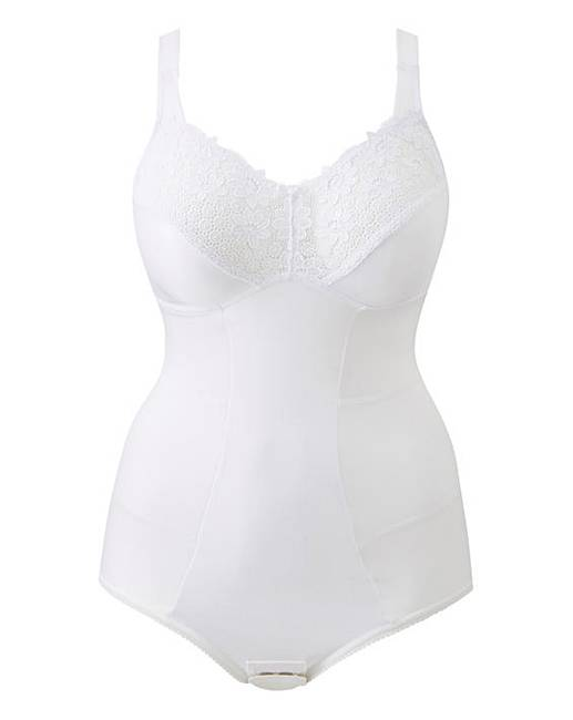 b83c3515f43 Miss Mary Summer Slimming White Bodysuit. Click to view  Miss Mary of  Sweden  products. Rollover image to magnify