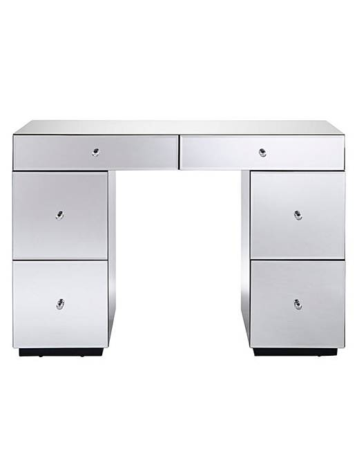 Mirage Mirrored 2 4 Drawer Dressing Table