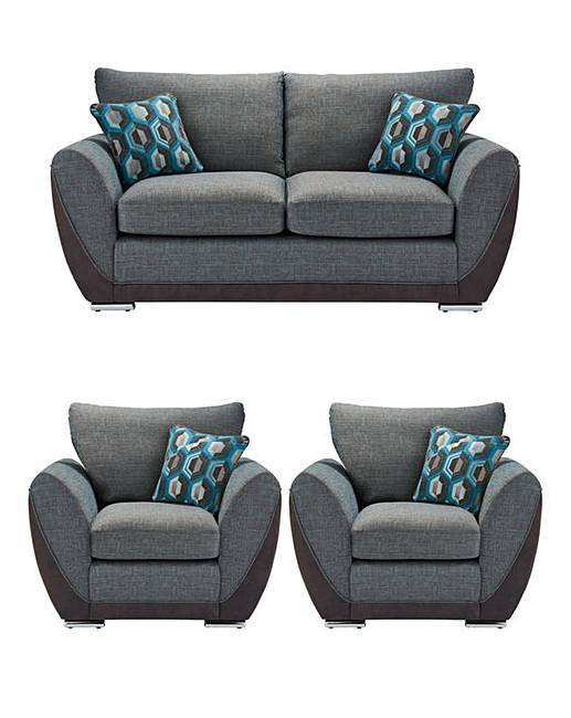 Harper 3 Seater Sofa plus 2 Chairs | Oxendales