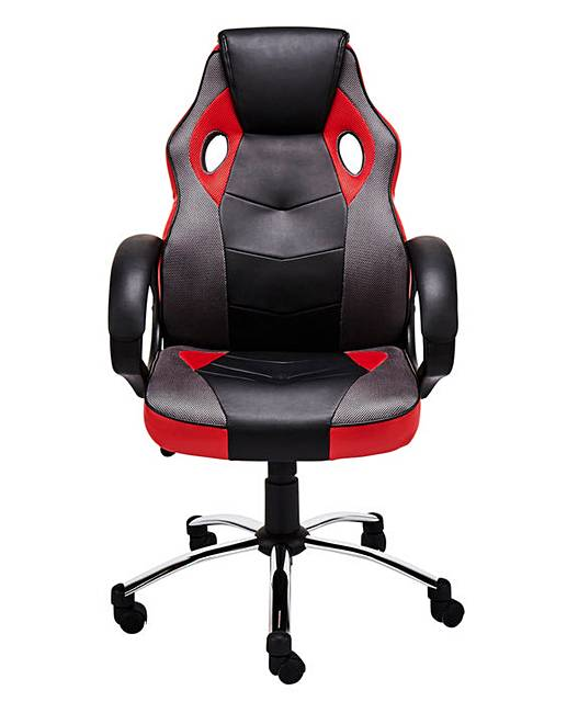 Jenson Faux Leather Gaslift Racing Style Office Chair