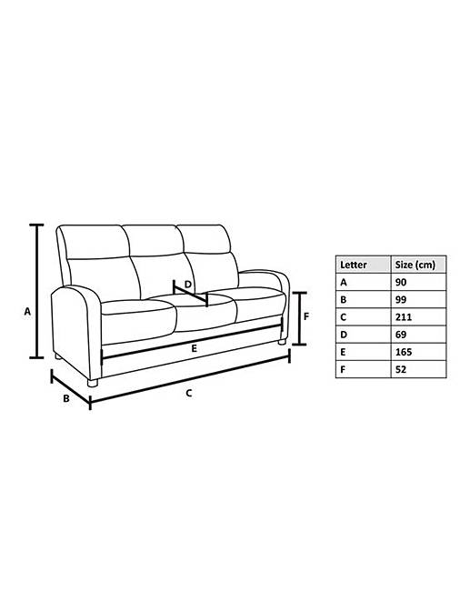 Burlesque 3 Seater Sofa. Rollover Image To Magnify