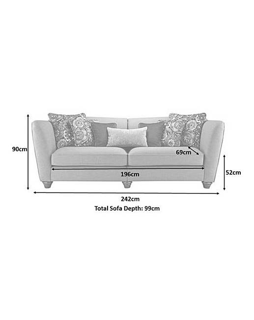 Burlesque 4 Seater Sofa Rollover Image To Magnify