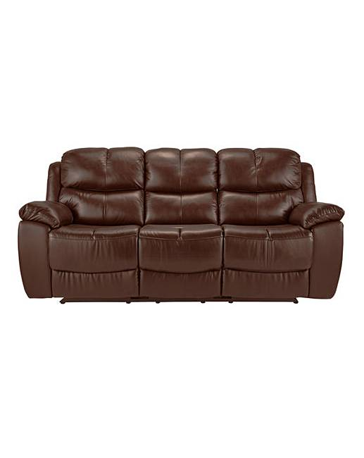 Carlton Leather Recliner 3 Seater Sofa Oxendales