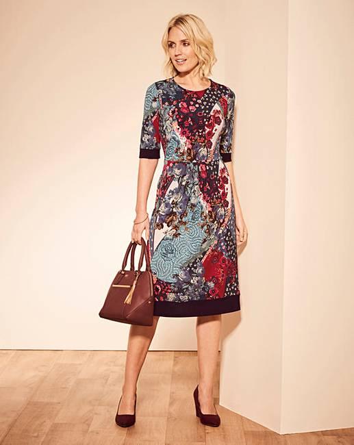 15327e930e Patchwork Print Dress