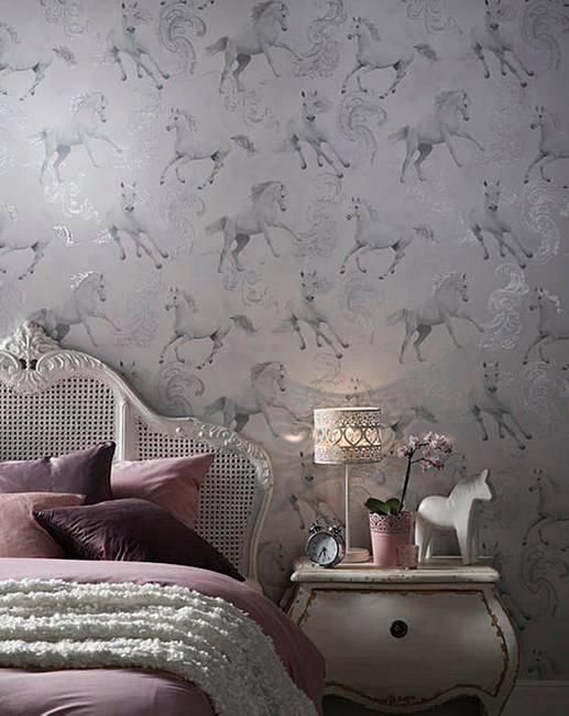Unicorn Wallpaper Camarillo Grey J D Williams