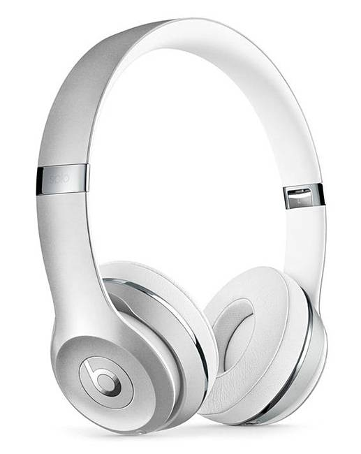 Beats Solo 3 Headphones Silver by Fashion World