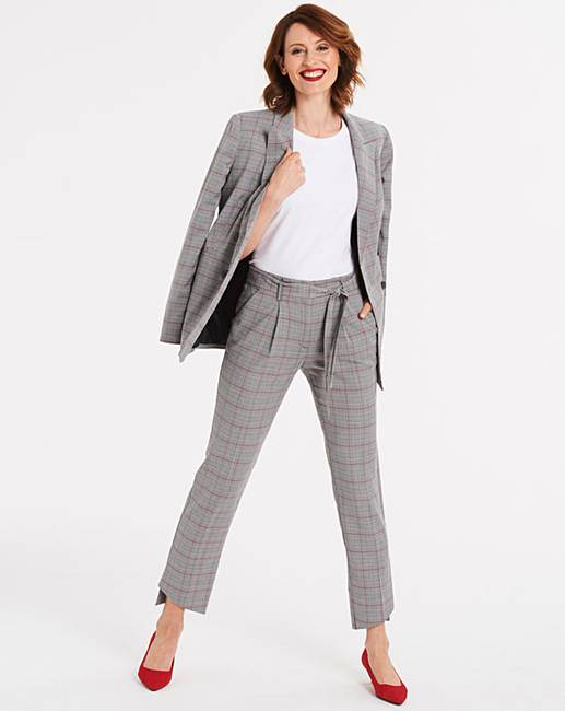 6e6e6475bc30 Tapered Checked Trousers | J D Williams
