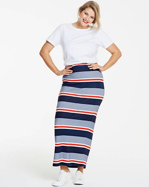 95b2ecb62 Stripe Stretch Jersey Maxi Tube Skirt | Fashion World