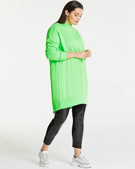 9265203e771 AX Paris Neon Green Plain Jumper Dress