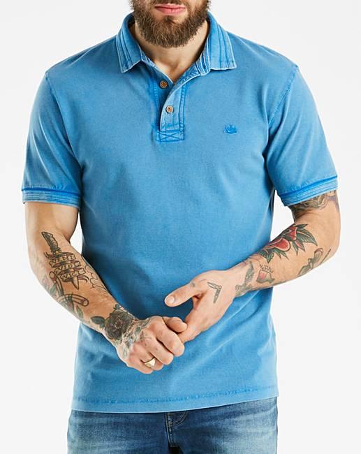 967b0ec604 Mantaray Blue Pique Garment Dye Polo