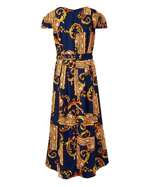 d305d2d0600 Ax Paris Curve Scarf Print Dip Back Maxi Dress. Click to view  AX Paris   products. Rollover image to magnify