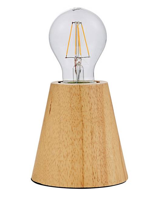 Round Tapered Wooden Table Lamp