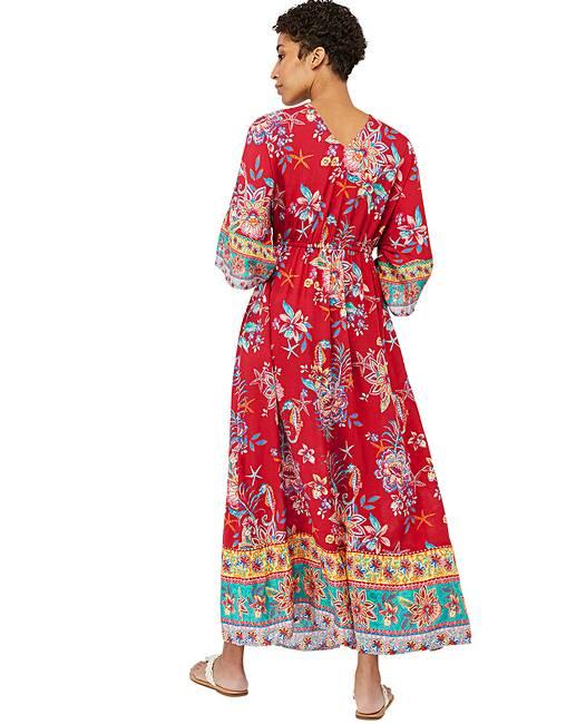 307b943ffc Monsoon Ariel Tie Front Maxi Dress | Simply Be