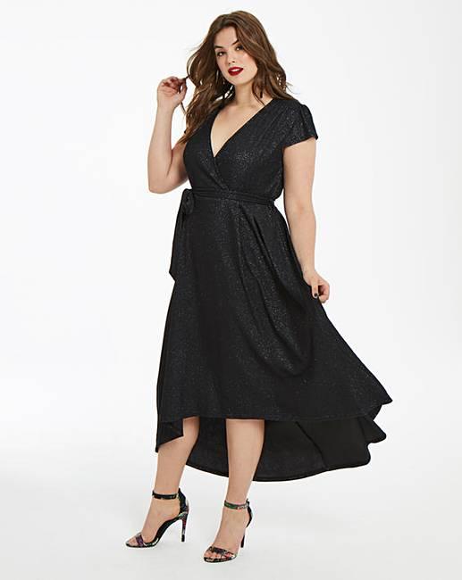 9a28d5f784d1 AX Paris Curve Glitter Midi Dress | Simply Be
