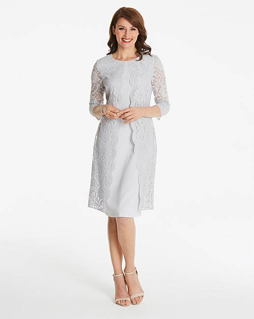 Gina Bacconi Lace Placement Shift Dress  d07761225