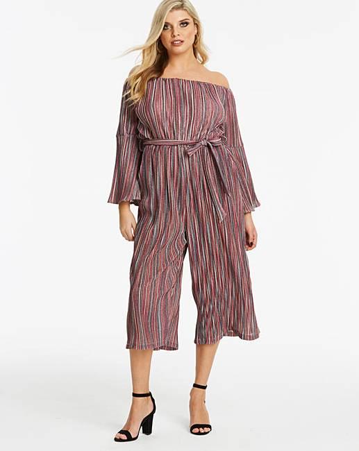 5f206ecdc7c AX Paris Curve Glitter Stripe Jumpsuit