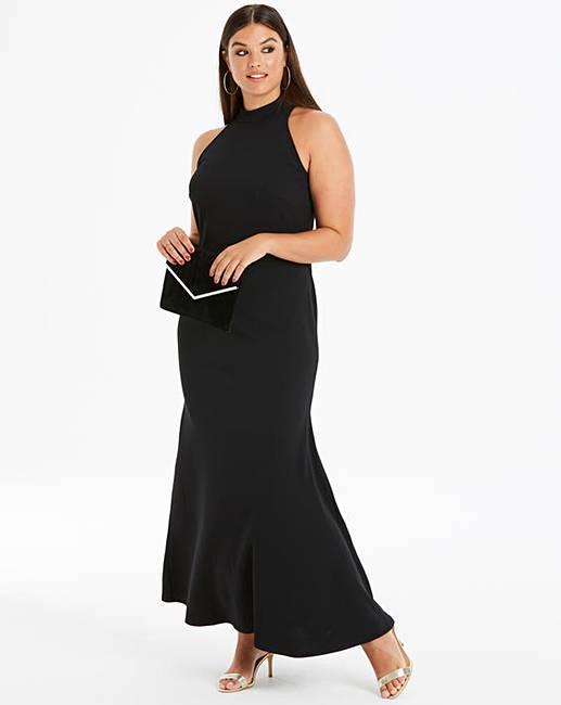 daa4553c3a2b Club L London High Neck Maxi Dress