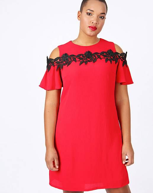 9e1283d3b7a Lovedrobe Cold Shoulder Shift Dress