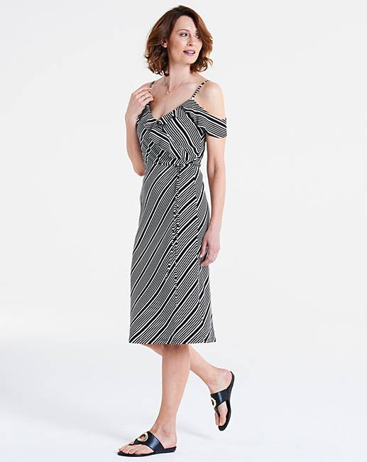 b5962853fb6f Oasis Monroe Stripe Wrap Dress | J D Williams