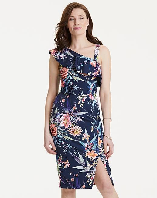 9f4ad67dcfb0 Oasis Floral One Shoulder Dress | J D Williams