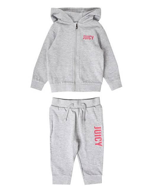cfe0fe90c Juicy Couture Baby Girl Grey Jog Set   Fashion World