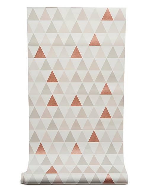 Graham And Brown Tarek Rose Gold Wallpaper