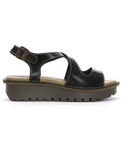 71a1450d06d48 Fly London Kimb Cut Away Chunky Sandals | J D Williams