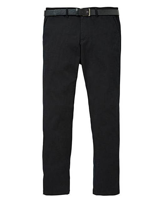 Top Jacamo Black Label Smart Belted Chino 33in