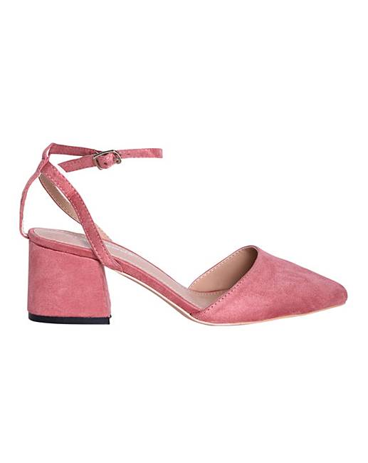 7dc2f932e Glamorous Block Heels Wide Fit | Simply Be