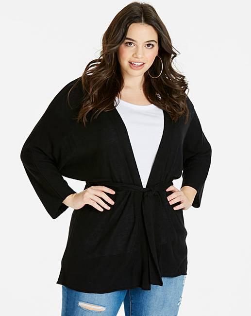 51535389fdaf Linen Mix Belted Cardigan