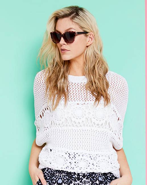 Crochet Knitted Top Fashion World