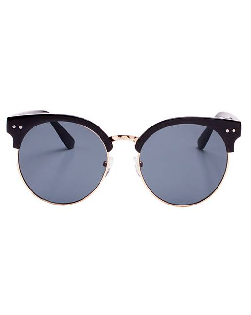 d28f8e7afd9 Kenzie Retro Style Black Sunglasses