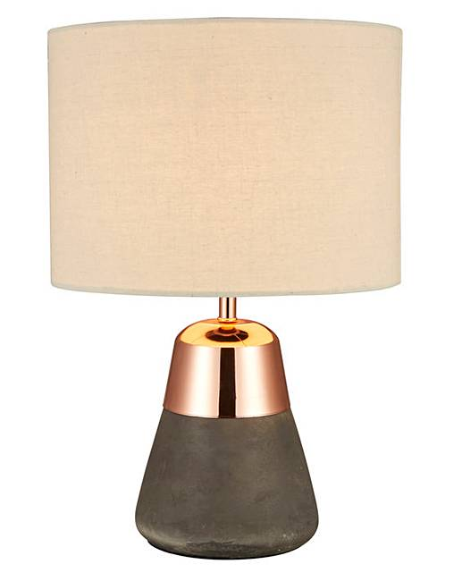 Larson Concrete Copper Bedside Table Lamp